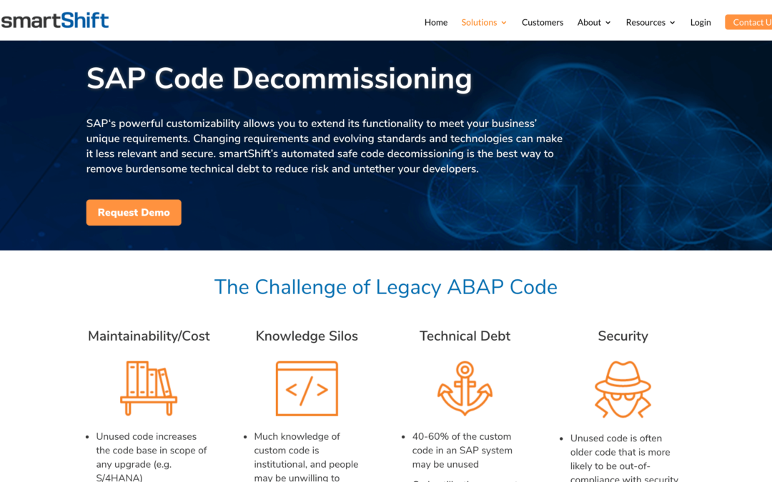 SAP Code Decommissioning